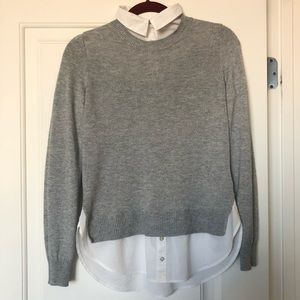 H&M maternity light gray top sweater shirt XS soft